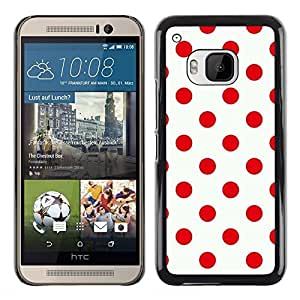 Exotic-Star ( Red Design Polka Dot Pattern Clean ) Fundas Cover Cubre Hard Case Cover para HTC One M9