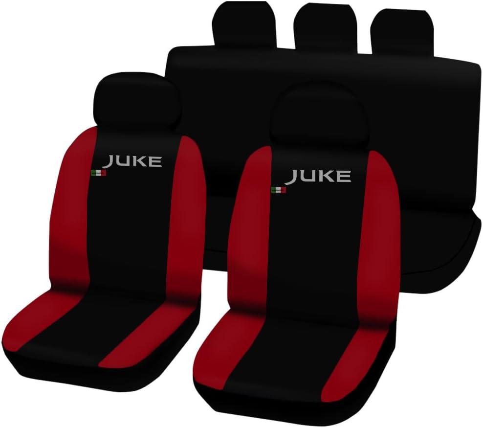 Negro//Rojo Fundas para Asientos Bicolor Lupex Shop Juke/_N.R