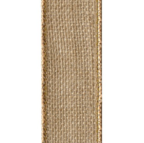 Offray Wired Edge Burlap Craft Ribbon, 2-1/2-Inch Wide