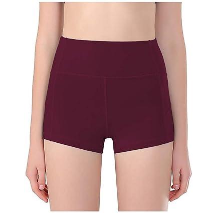 Yoga Pantalones Cortos Deportivos para Mujer con Bolsillo Lateral ...