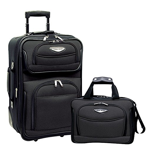 Travel Select Amsterdam Two Piece Carry-On Luggage Set - Grey by Traveler's Choice