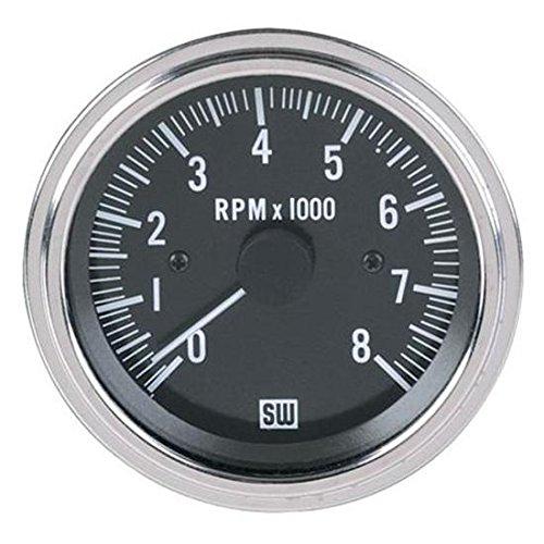 Stewart Warner 82170 Deluxe Tachometer, Electric, 3-3/8 Inch