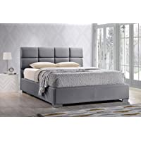 Baxton Studio Sophie Modern & Contemporary Fabric Upholstered Platform Bed, Queen, Grey