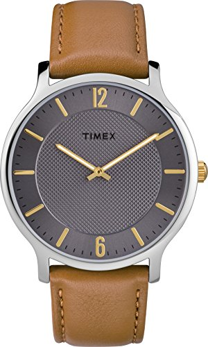 Timex Mens Analogue Classic Quartz Watch with Leather Strap TW2R49700