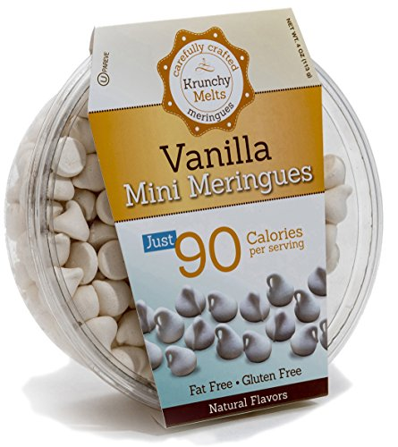 Original Meringue Cookies (Vanilla Minis) • 90 calories per serving, All Natural, Gluten Free, Fat Free, Nut Free, Healthy Snack, Kosher, Parve • by Krunchy Melts ()