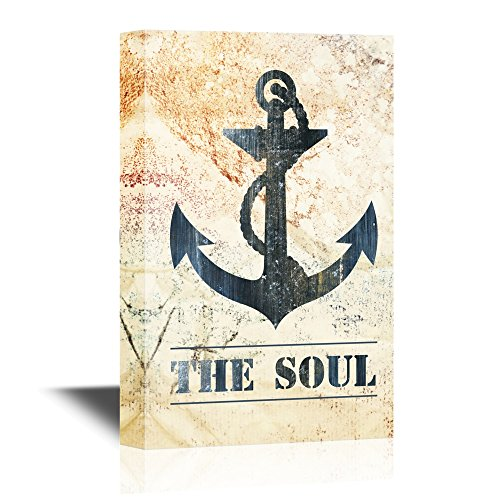 Anchor on Vintage Background with The Words The Soul