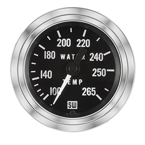 Stewart Warner Temperature Gauge 100-265 F w/ 216' Tube MAXIMA TECHNOLOGIES