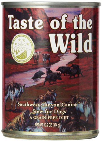 Taste of the Wild Canned Dog Food for All Lifestages, Southwest Canyon Canine with Wild Boar and Sweet Potatoes Formula (Pack of 12, 13.2 Ounce Cans)