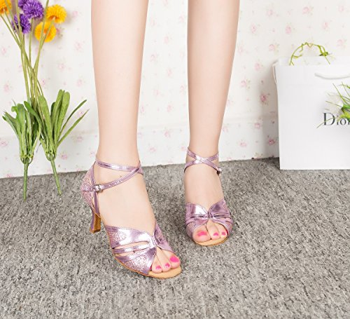 Minitoo , Danse de Salon femme - Rose - Pink-7.5cm Heel,