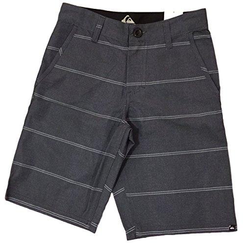 Quiksilver Boys Dark Shadow Double Stripe flat front shorts (Dark Shadow) (8)