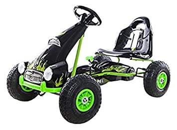 Ricco PB9688A - Go-Kart de Juguete, Ruedas de Goma, Color Negro: Amazon.es: Juguetes y juegos