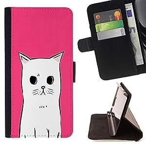 King Case - FOR Samsung Galaxy Note 3 III - Hold the present - Prima caja de la PU billetera de cuero con ranuras para tarjetas, efectivo Compartimiento desmontable y correa para la mu?eca