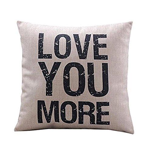 WUWE Cotton Linen Cushion Throw Pillow Covers Pillowslip Cas