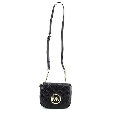 88bb4d8bee59 Michael Kors Small Fulton Quilted Crossbody BLACK  Handbags  Amazon.com