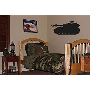 Dailinming PVC Wall Stickers Big Tank Boys Army Military Bedroom Wall Decor  Decal 94X46CM