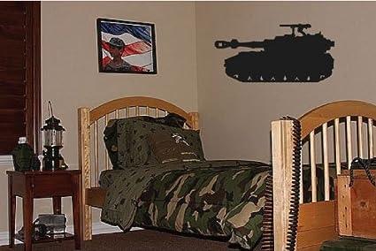 Dailinming PVC Wall Stickers Big Tank Boys Army Military Bedroom Wall Decor  Decal 94X46CM