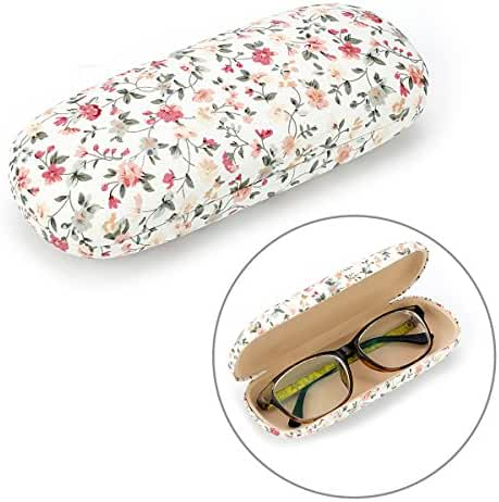 EZESO Fabrics Floral Retro Light Portable Eyeglasses Case