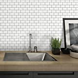 STICKGOO White Subway Tiles Peel and Stick