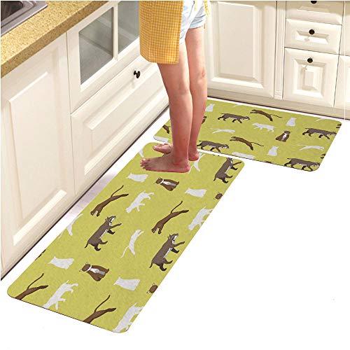 Customized Kitchen and Bathroom Runner Rug Floor Mats,(Non-Slip), Cougar Bobcat Wallpaper (15