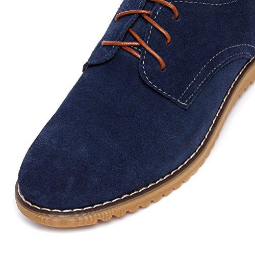 Taille Grande Respirant Bleu Ciel Hommes Chaussures YiJee Loisir Classique Plat 1BqXtn47EW