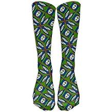 Belize Flag Artascope Flower Crew Sock Long Socks Sports Socks For Travel Leisure For Women And Men - Best Travel & Flight Socks - Running & Fitness.