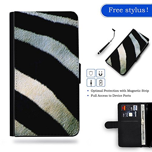 Phone Case Shop Full Protection Cover Case Leather Wallet Case Slot Case for Samsung Galaxy S6 Edge Plus / zebra stripes pattern /