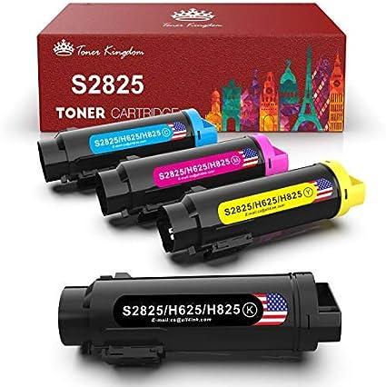4 Pack Toner Cartridges for Dell H625cdw H825cdw S2825cdn H625 H825 s2825 Ink
