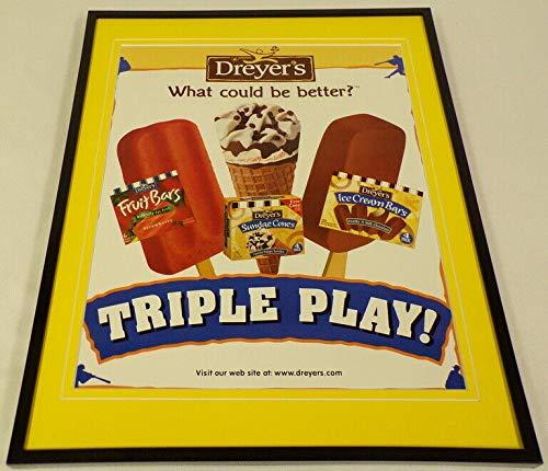 1997 Dreyer's Ice Cream Bars Framed 11x14 ORIGINAL Vintage Advertisement