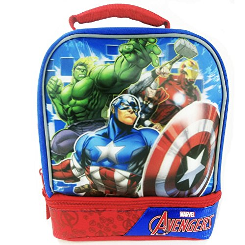 Captain America Insulated Drop Bottom Lunch Box