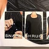 Champion Women's Lightweight Snap Scarf, Black, One Size