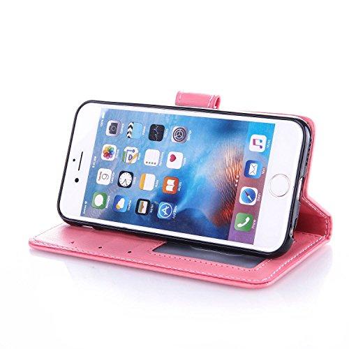 Cozy Hut iPhone 6 6S 4,7 Zoll Hülle Bronzing Drucken Automatische Adsorption Ledercase Case Cover PU Leder Handyhülle Handytasche Schutzhülle Flip Cover Folio Flip case Etui Schale Standfunktion Kredi