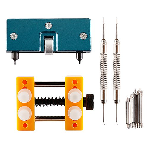 Spring Distance Kits (Adjustable Back Case Opener and Watch Holder for Waterproof Watches, Teenitor Watch Adjustable Opener Back Case Remover Repair Tool, 2 Pcs Watch Spring Bar Tool & 8 Extra Watch Pins, 12 pcs)