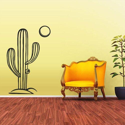 Wall Decal Vinyl Sticker Decals Skyline Cactus Mexico Desert Sun (Z1795) by StickersForLife