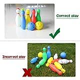 Bowling Pins Ball Toys Mini Plastic Bowling Set Fun