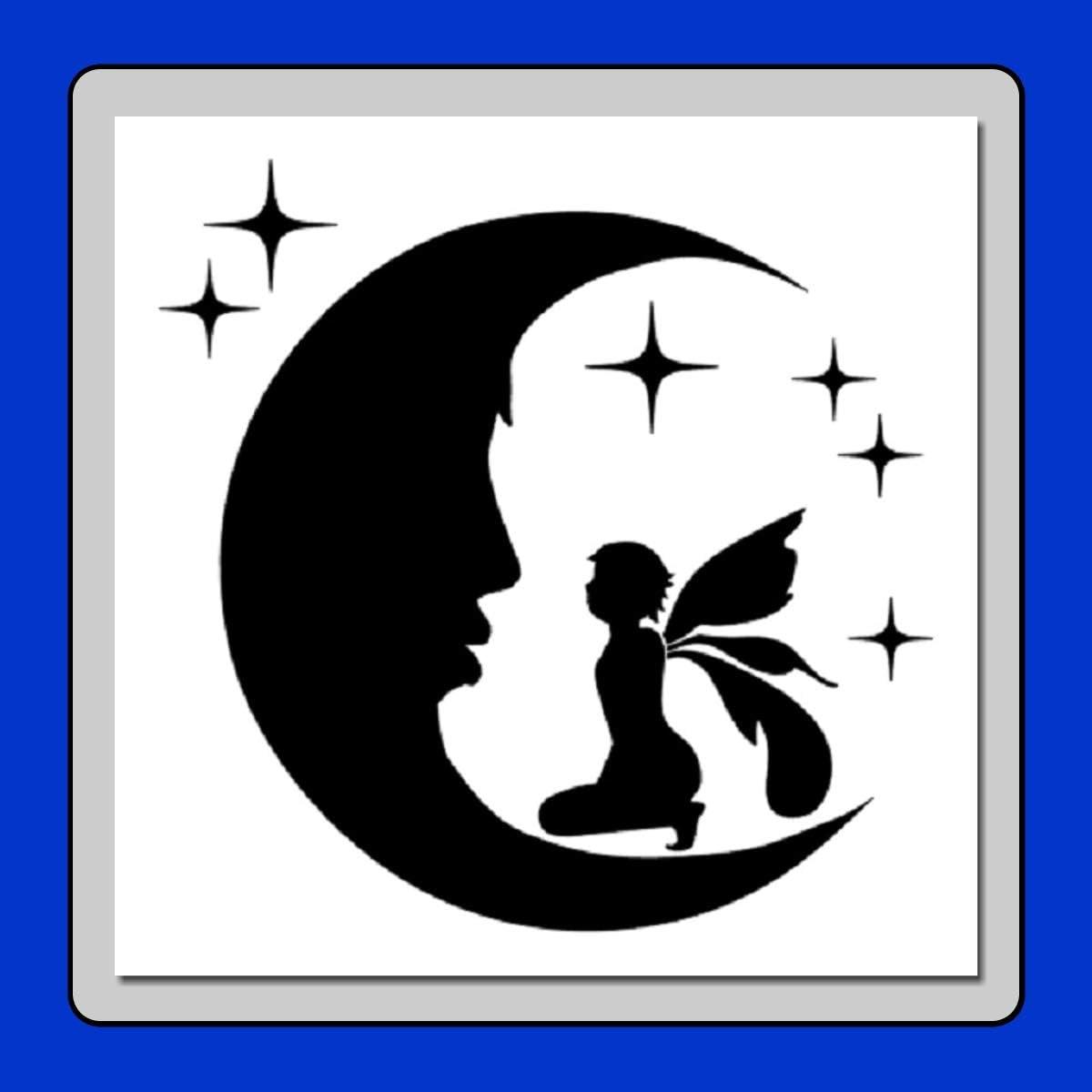 Sky stencil Moon stencil Card making,Craft Stencil