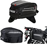 Nelson-Rigg CL-2014-MG Black Magnetic Mount Journey Mini Tank Bag,  CL-1060-ST Black Sport Touring Tail/Seat Pack,  and  (CL-855) Black Touring Adventure Saddlebag Bundle