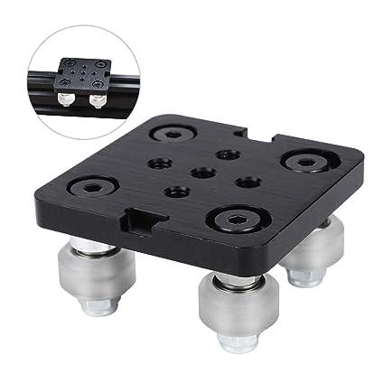 Festnight Mini V Gantry Rod Plate con rueda para ranura en V ...