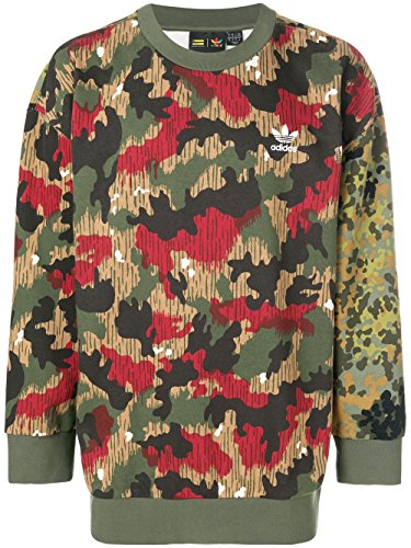 Adidas Classic Crew Sweatshirt (adidas Originals Men's Pharrell Williams Oversize hu Hiking Camouflage Crew Sweatshirt Sweat (XL, Camouflage))
