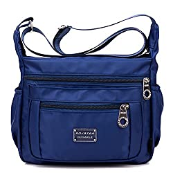 Crossbody Purse For Women Adjustable Shoulder Strap Handbag W Multiple Zippered Elastic Pockets Organizer For Wallet Passport Boarding Pass More Navy Water Resistant Nylon From Soyater