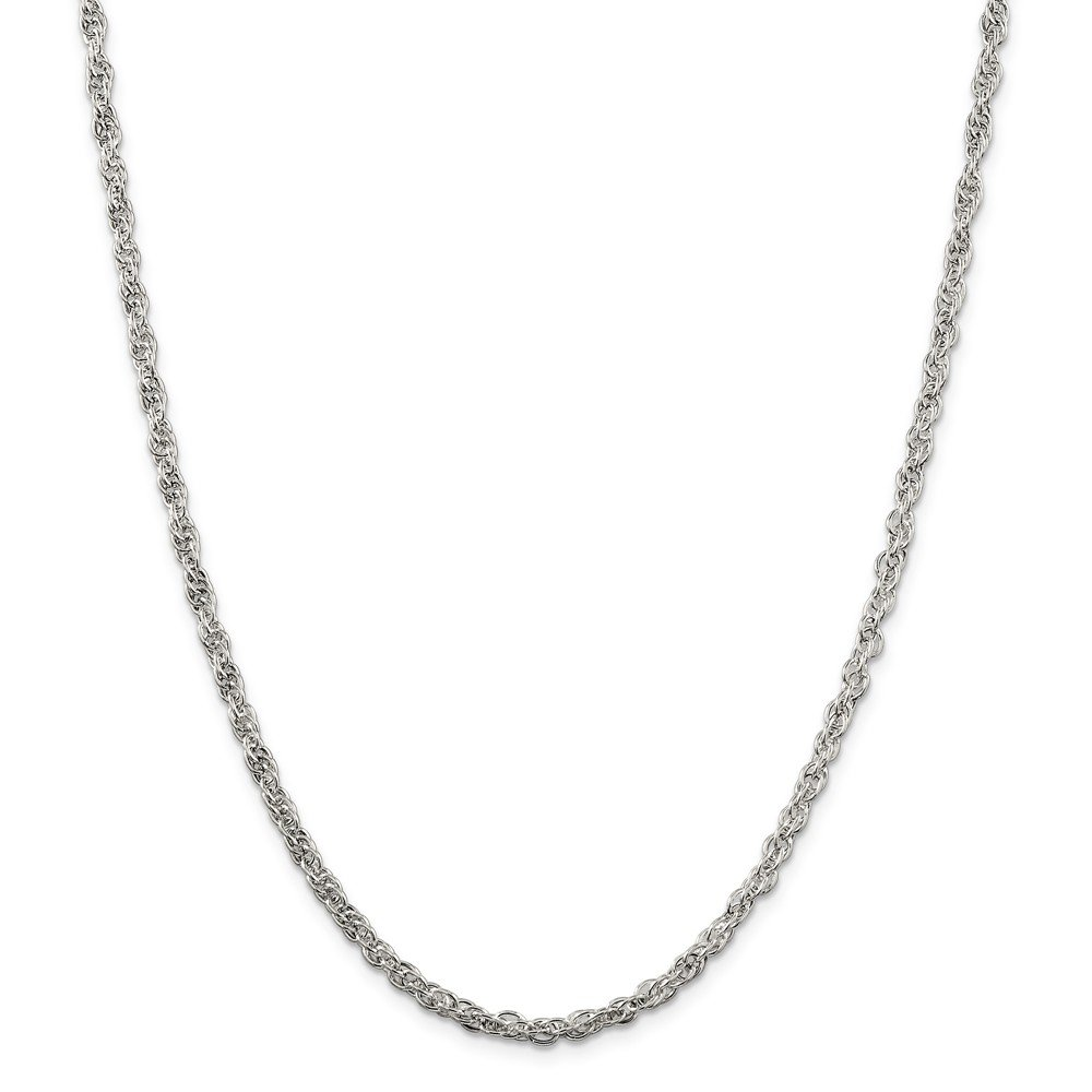 925 Sterling Silver 4mm Hollow Loose Rope Chain