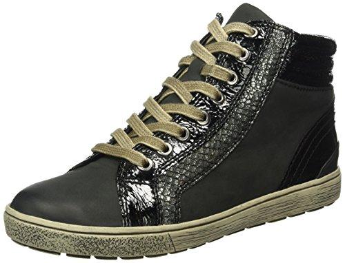 Basse Sneaker Donna Schwarz Nub 25250 blk 15 Comb Caprice qaU6WvwnxE
