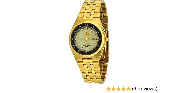 Amazon.com: Orient #FEM6H00GR Mens Gold Tone Sport 50M Tri Star Luminous Dial Self Winding Automatic Watch: Watches
