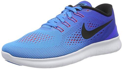 Chaussures De Sport Gratuit Rn Hommes Nike, Multicolore Vert (lueur Bleu / Coureur Noir Bleu)