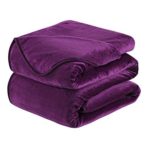 HOZY Soft Blanket King Size Fleece Warm Fuzzy Throw Blankets