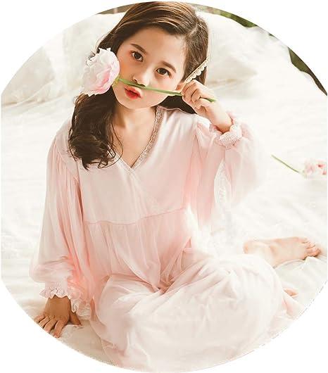 YAOXI camisón de Encaje para niñas, Camisones de algodón Suave ...