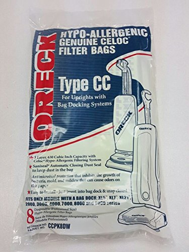 8 Oreck Paper Bag Oreck XL Type CC Vacuum Cleaner Bags CCPK8DW