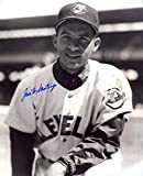 Jose G. Santiago Autographed/Original Signed 8x10 B&W Photo Showing Him w/the Cleveland Indians in the 1950s - He Also Played in the Negro Leagues