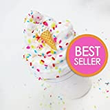 Ice Cream Birthday Cake With Sprinkles & Charm - Scented Butter Slime (Daiso)