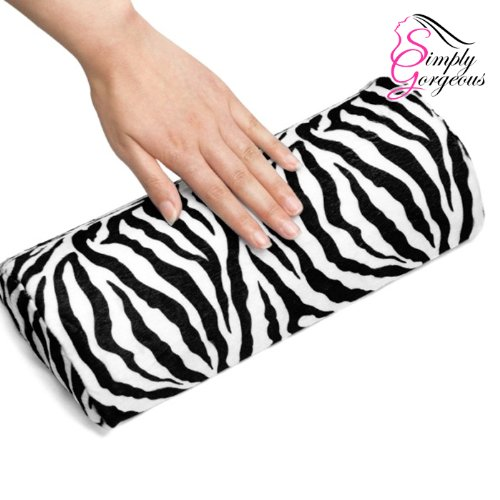 Soft Zebra Stripped Hand Rest Cushion Pillow For Nail Art Simply Gorgeous
