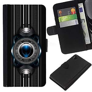 EJOY---La carpeta del tirón la caja de cuero de alta calidad de la PU Caso protector / Sony Xperia Z2 D6502 / --Sci Fi extranjero
